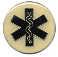 Emergency Medical Tech Lapel Pin Round