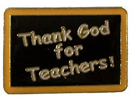 Thank God for Teachers Pin