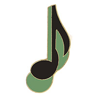 Music Note Pins Gold Black