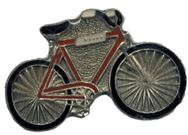 Red Bicycle Pin