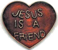 Heart Jesus is a freind lapel pin