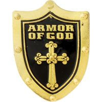 Armor of God Shield Lapel Pin (Pkg of 4)