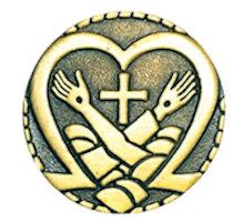 Jesus & St. Francis Heart Pin