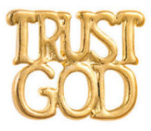 Trust God Lapel Pin Gold Plated