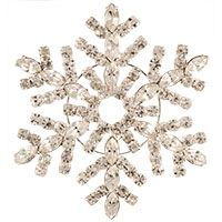 Large Rhinestone Snowflake Brooch
