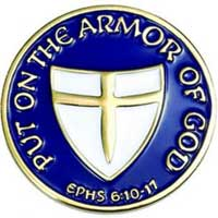 The Armour of God Lapel Pin