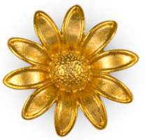 Gold Plated Daisy Flower Pin