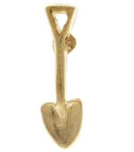Shovel Lapel Pin Gold for Building, Ground Breaking