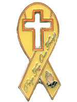 Pray For Our Troops Ribbon Pin