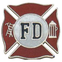 Fire Fighter Shield Pin