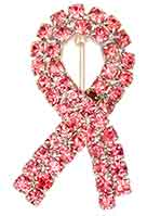 6819 Pink Crystals Breast Cancer Awareness Ribbon Pin