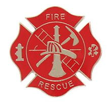 Firefighter Fire Rescue Shield Pin