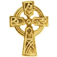Gold  Celtic Cross Lapel Pin