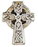 Celtic Cross Lapel Pin St. Patrick Pewter
