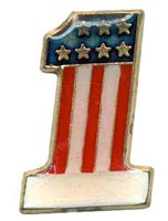 USA #1 Flag Pin