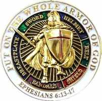 Holy Armor of God Pin