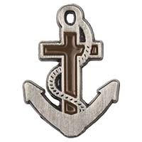 Anchor of Hope Cross Pin Pewter