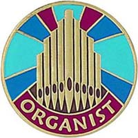 Gold Organist Pin