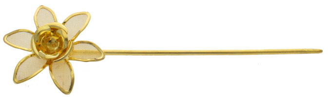Gold Flower Stick Pin