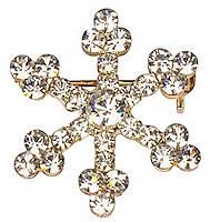 Rhinestone Snowflake Lapel Pin