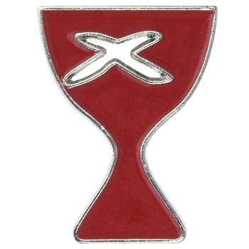 Disciples of Christ Pins Red Silver