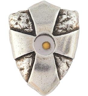 Mustard Seed Lapel Pin - Cross Shield
