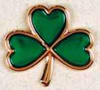 3 Leaf Clover Pin Gold Plated