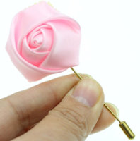 Cloth Rose Flower Stick Pin (Pkg of 3) $2.00 Each
