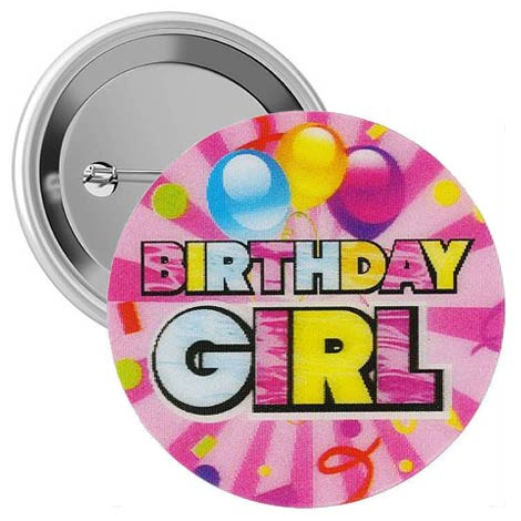 Birthday Badge Pins-Boy or Girl (Pkg of 12)