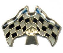 Winner Checkered Flag Pin Racing