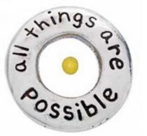 All Things Are Possible Mustard Seed Pin