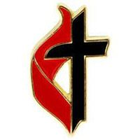 United Methodist Cross & Flame Pin