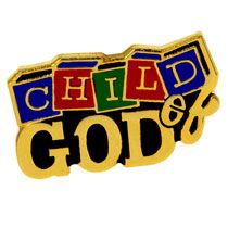 child of God pin gold blocks