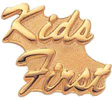 kids first gold pin