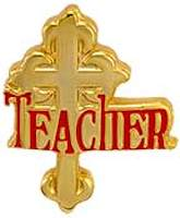 1023 Teacher Recognition Cross Pin