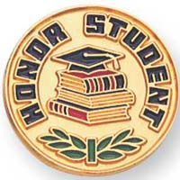 Honor Student Gold Pin