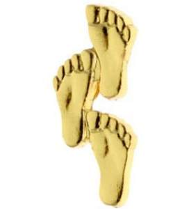 Footprints in Sand Pin - Gold