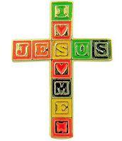 I Love Jesus, Jesus Loves Me Cross Pin