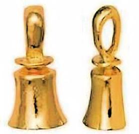 Gold Musical Hand Bell Pin