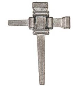 Nail Cross Pin Pewter, Easter Cross