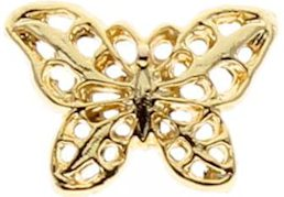 Gold Plated Filigree Butterfly Pin