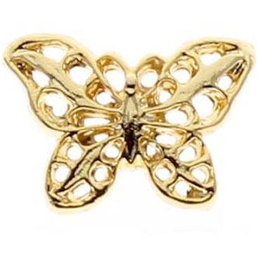 Filigree Butterfly Pin Gold Plated