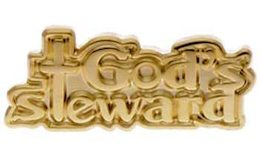 God's Steward Pin Gold