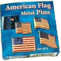 Americian Flag Pins Box of 4