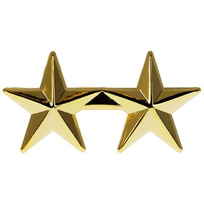 2 star Police or Military gold Star Pin