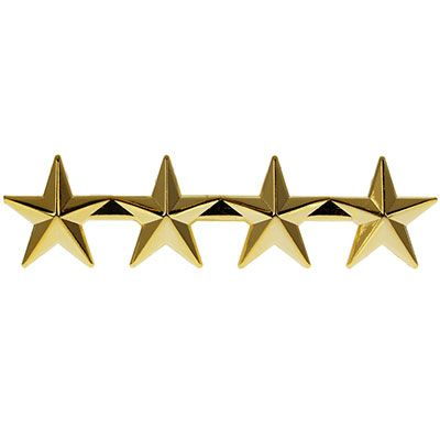 4 star Police or Military Gold Star Pin