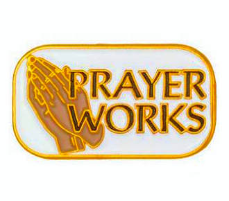 Prayer Works with Praying Hands Pin