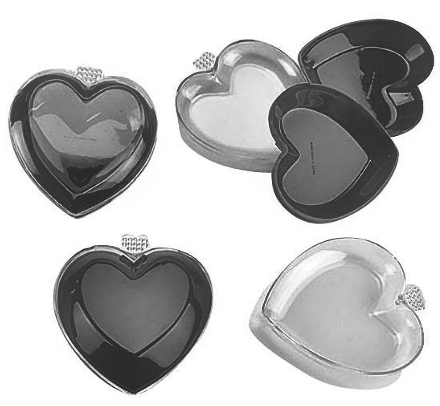 Little Heart Shapped Plastic Gift Boxes - 48