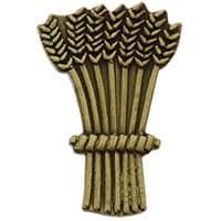 Harvest Wheat Lapel Pin Bronze