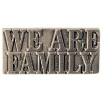 We Are Family Pin Antique Silver